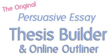 Example argumentative essay thesis statements